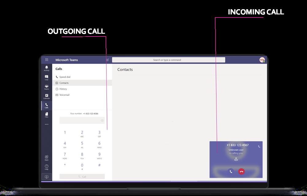 Make and receive <span> phone calls</span> using Microsoft <span>Teams </span>